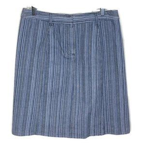 CHRISTOPHER & BANKS STRIPED DENIM STRETCH SKIRT